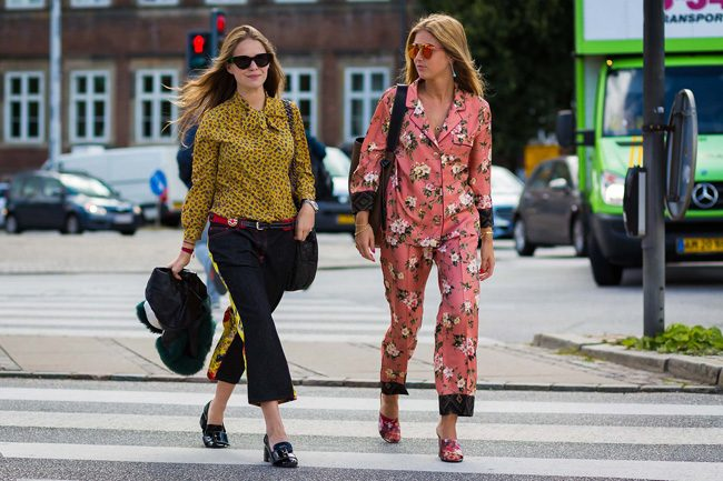 pijama party street style cophenagen fashion week style du monde