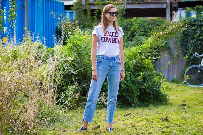 space cowboy tshirt ganni street style cophenagen fashion week style du monde