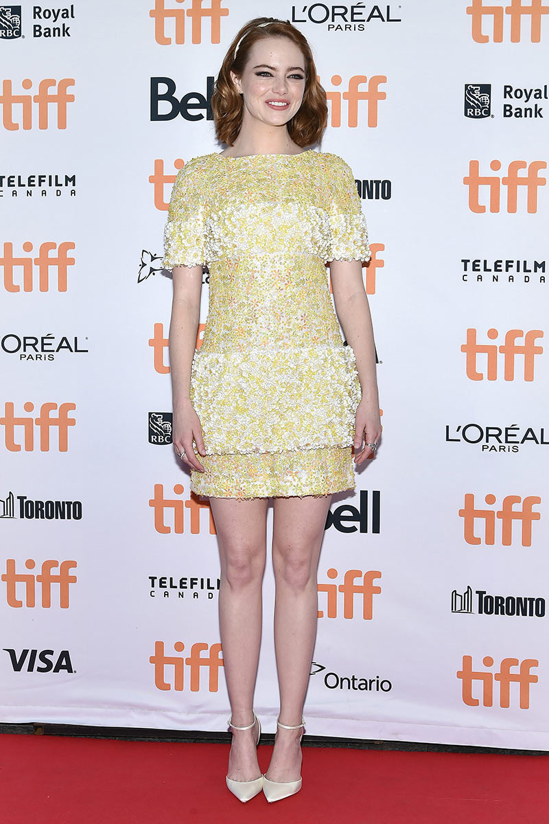 Emma Stone de Chanel en el Festival de Cine de Toronto