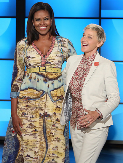 Michelle Obama de Gucci en el The Ellen Degeneres Show