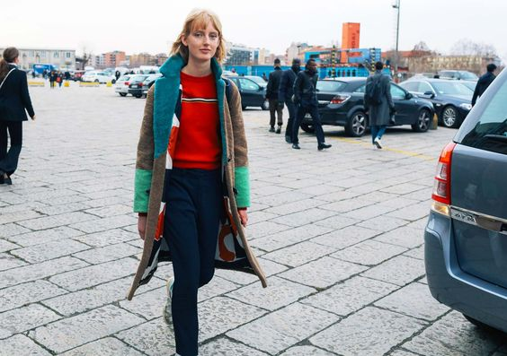 Laura Hagested abrigo de sakks potts street style