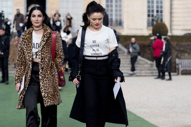 kristina bazan street style paris hc alta costura camiseta dior we should all be feminists
