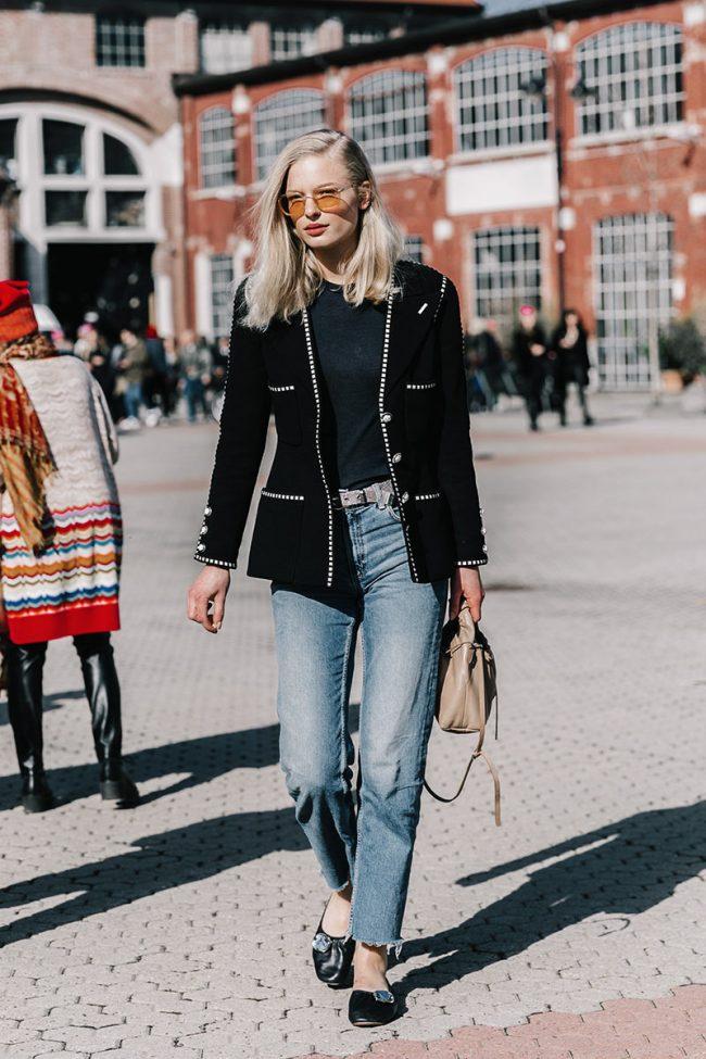 gafas de sol amarillas street style milan fashion week