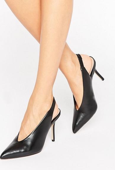 zapatos negros destalonados aldo