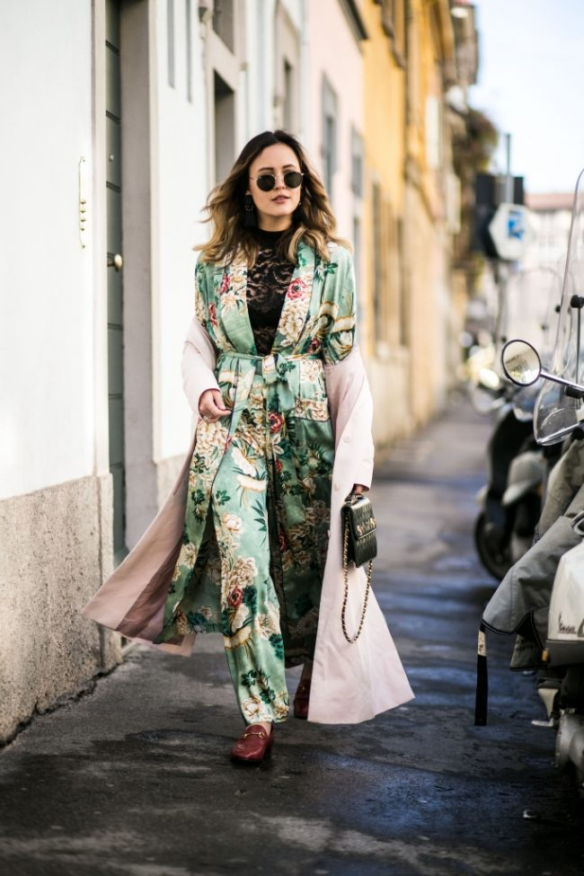 kimono verde de zara trench gvasalia fashion victim
