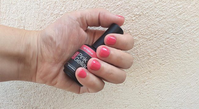 kit de inicio de manicura permanente pink gellac color 156 tropical be trendy my friend