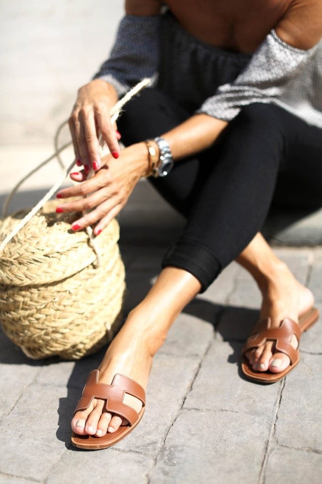 silvia bartabac street style blogger sandalias hermes oran capazo street style be trendy my friend
