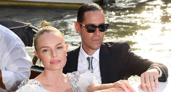 kate bosworth y su marido en el festival de cine de venecia 2017