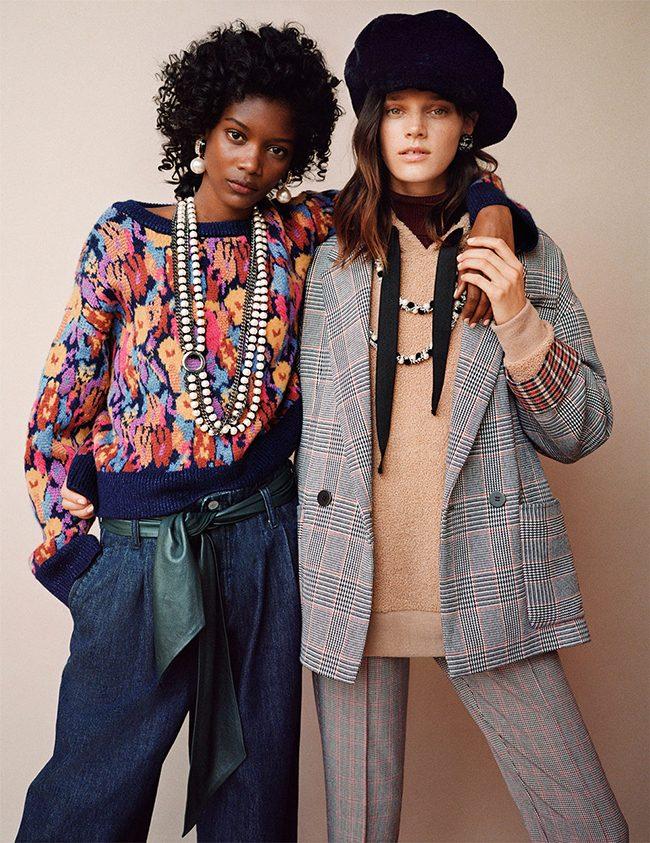 editorial Zara TRF noviembre 2017 gorro collar perlas chaqueta ejecutiva