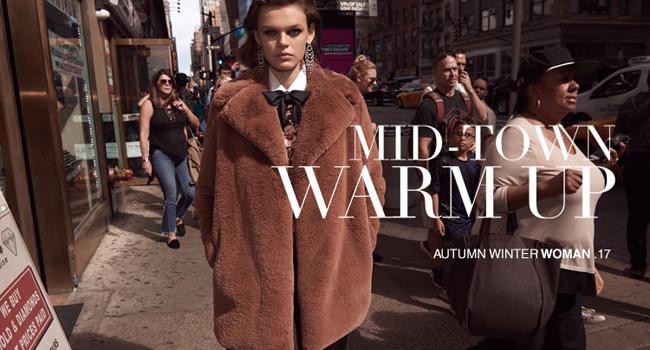 nuevo editorial de zara noviembre 2017 abrigo peluche marron maxipendientes falso cuello lazada negro