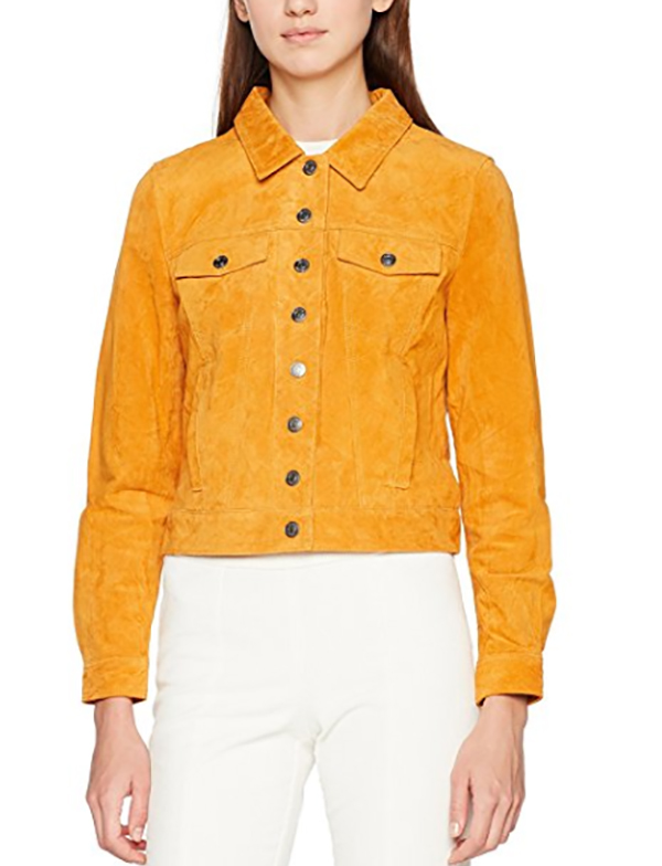 cazadora vaquera amarillo de selected en be trendy my friend compra online millennial centennial