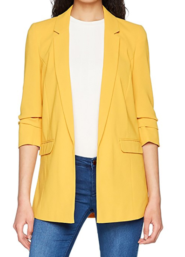 chaqueta blazer amarilla miss selfridge be trendy my friend la invitada perfecta