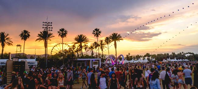 sunset en Coachella