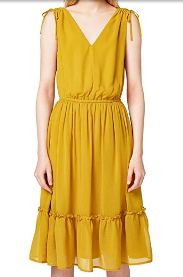 vestido amarillo estilo bohemio edc by esprit be trendy my friend millennial centennial